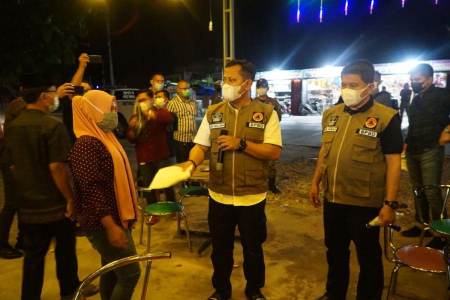 Kapolres Rohul Bersama Satgas Covid-19 Laksanakan Kegiatan Yustisi di Kecamatan Tambusai Utara