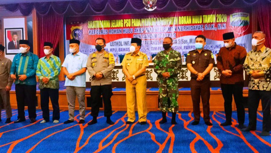 Menjelang PSU, Polres Rohul Bersama Kodim 0313/KPR Deklarasi Jaga Kamtibmas