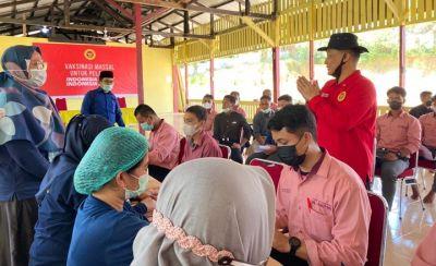 Kejar Target Dosis Kedua, BIN Riau Pusatkan Bagi Santri dan Masyarakat