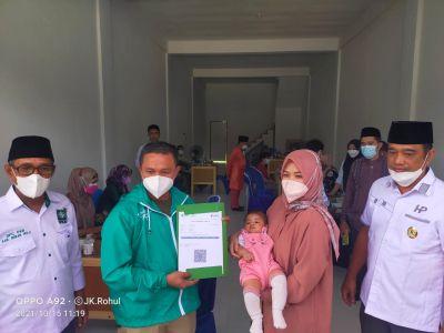 Peduli dan Pro Rakyat, PKB Riau Salurkan Vaksinasi Bagi Masyarakat Rokan Hulu