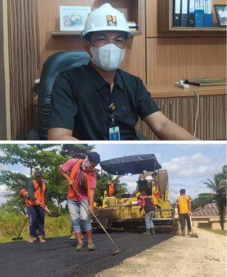 Pemerintah Rohul Bangun Aspal Jalan Di 4 Desa Melalui Dana DAK Anggaran APBN 2021
