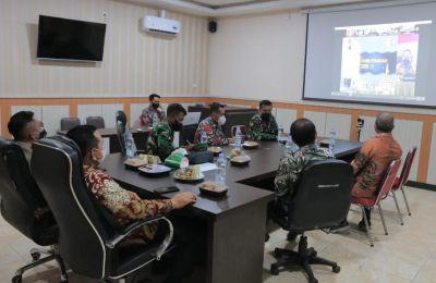 Singkronisasikan Penanganan Covid 19, Wabub Rohul Ikuti Rakor Bersama Panglima TNI Dan Ka BNPB Pusat