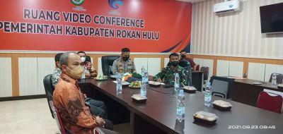 Wabup dan Waka Polres Rohul Ikuti Rakor Bersama Panglima TNI dan Kepala BNPB Pusat